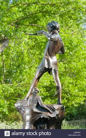 statue of peter pan the fictional character created by j m barrie