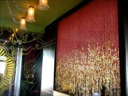 sparkly partition curtain interior design ideas