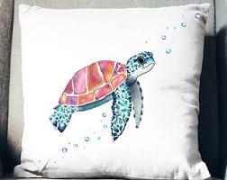 sea turtle pillow etsy