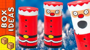 diy santa mint dispenser cardboard christmas crafts for kids on