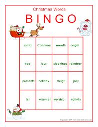 printable christmas bingo game xmasblor