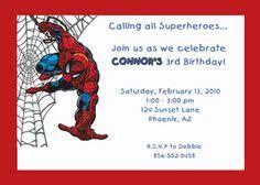 spiderman birthday invitations personalized free printable