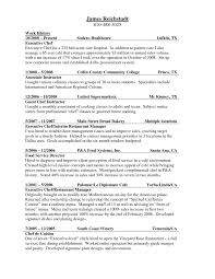 emejing culinary resume templates pictures podhelp info