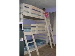 B Triple Bunk Bed Frontier The Bunk  Loft Factory - Triple lindy bunk beds