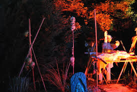 haunted house halloween decorations voodoo ceremony i like the teepee with skulls haunted bayou