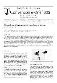 Sound Map Aes E Library Binaural Recording System And Sound Map Of Malaga