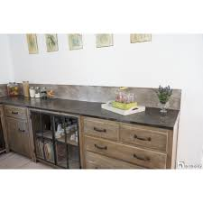cuisine en beton waxed concrete kit kitchen work surface béton