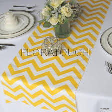 zig zag table runner yellow and white chevron zigzag wedding table runner 2434053 weddbook