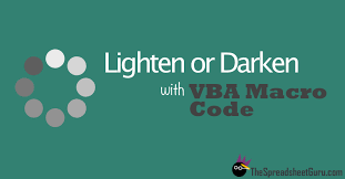 vba code to lighten or darken fill colors in excel u2014 the