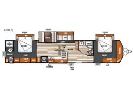destination trailer floor plans salem villa series 4002q classic destination trailer