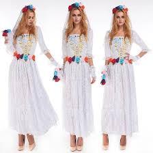 Zombie Princess Halloween Costume Aliexpress Buy Xxl White Princess Cosplay Dress Skull