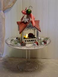 christmas wood birdhouse home decor red by edencovetreasures my