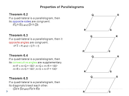 properties of parallelograms worksheet 6 2 properties of parallelograms ppt