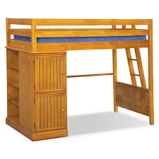 colorworks loft bed honey pine american signature furniture