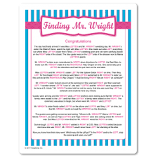 free printable bridal shower left right game right and left gift passing game with a fun story about mr wright