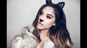 Cat Face Makeup Halloween by Gold Glitter Cat Makeup Halloween Look Youtube