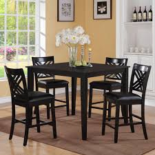5 pc dining table set buy brooklyn 5 piece dining table set finish black
