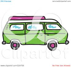 volkswagen hippie van clipart royalty free rf clipart illustration of a green camper van by