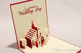 Buy Wedding Greeting Cards Online 3d Sweet Wedding Greeting Cards Handmade Paper Sculpture Creative