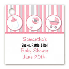 shake rattle and roll baby shower baby shower favor tags shake rattle roll pink favor tags