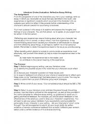 Literature Essays Examples Refelctive Essay English Reflective Essay Resume Model Paper