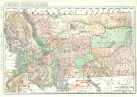 Montana River Map by Maps Antique United States Us States Montana
