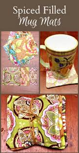 homemade gifts spice filled mug mats squares gift and craft