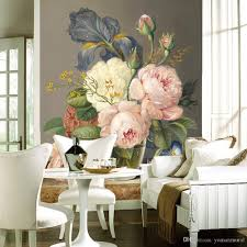 Home Wallpaper Decor by Custom Luxury Wallpaper Elegant Flowers Photo Wallpaper Silk Wall