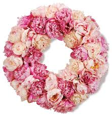 winward designs peony wreath 24 diameter pink traditional