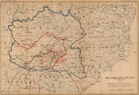Southern States Of America Map by The Cherokee In Virginia