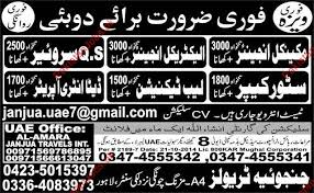 electrical engineering jobs in dubai for freshers mechanical engineer electrical engineer surveyor store keeper