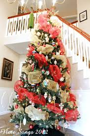 dec xmas tree with mesh ribbon hope you u0027ve enjoyed seeing my