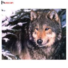 Gifts For Home Decoration Aliexpress Com Buy Diamond Painting Square Stone Wolf Gift For