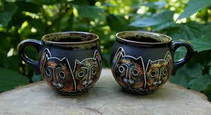 Cool Mugs Canada Ceramic Cat Mug Set Of 2 Funny Coffee Mug Cat Lover Gift