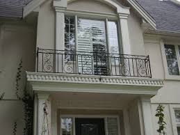 wrought iron balcony railings designs with wall brick ideas home