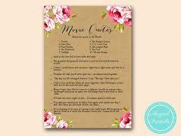 Bridal Shower Wish Floral Kraft Bridal Shower Games Magical Printable