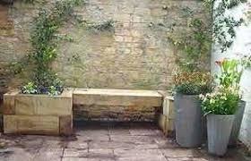 Raised Garden Bed With Bench Seating Raised Bed Projects With Railway Sleepers