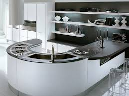 kitchen curved kitchen island and 49 white glossy and round