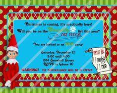 elf birthday invitation elf christmas invitation holiday