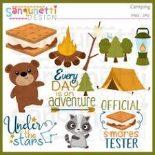 halloween clipart archives sanqunetti design camping scouts clipart set digital download images scrapbook