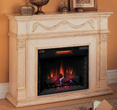 Electric Fireplace With Mantel 55 Gossamer Antique Ivory Electric Fireplace 28wm184 T408