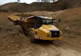 cat 745 articulated truck boasts next gen cab new machine control