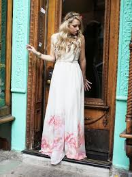 mango floral hem maxi dress