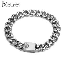 stainless steel bracelet links images Buy mcllroy 1314 cannabis men 39 s titanium men jpg