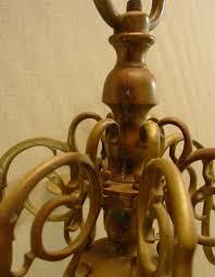 Chandelier Antique Brass Wiscasset Antiques Center Lighting