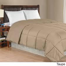 Solid Beige Comforter Solid Color Microfiber Down Alternative Comforter Free Shipping