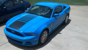 Blue Mustang Black Stripes 2005 2015 Mustang Fading Strobe Faded Center Hood Stripe Decals