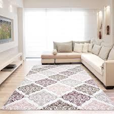 grand tapis de cuisine tapis vintage argenté avec lurex et effet 3d lilo pas cher