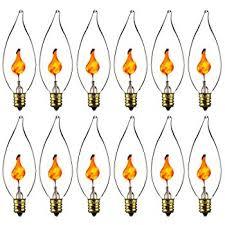Flickering Light Bulb Halloween Amazon Com Flicker Flame Light Bulbs Rolay 5 Watt Halloween