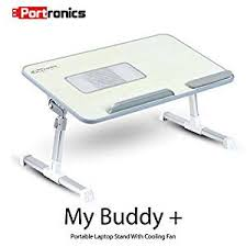 Computer Desk Portable Portronics Por 704 Adjustable Laptop Cooling Table Portable